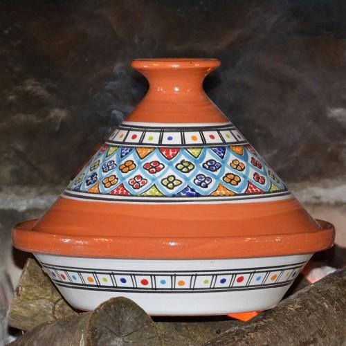 Tajine Safi Turquoise- D 27 cm
