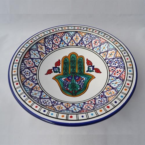 Plat rond Saïdia - Pièce unique - D 31 cm