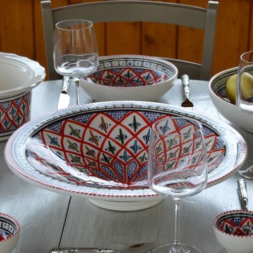 Plat Tebsi Bakir rouge - D 37 cm