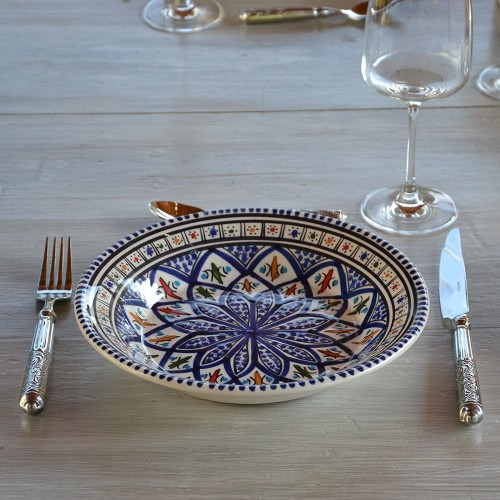 Lot de 6 assiettes creuses Bakir bleu - D 24 cm