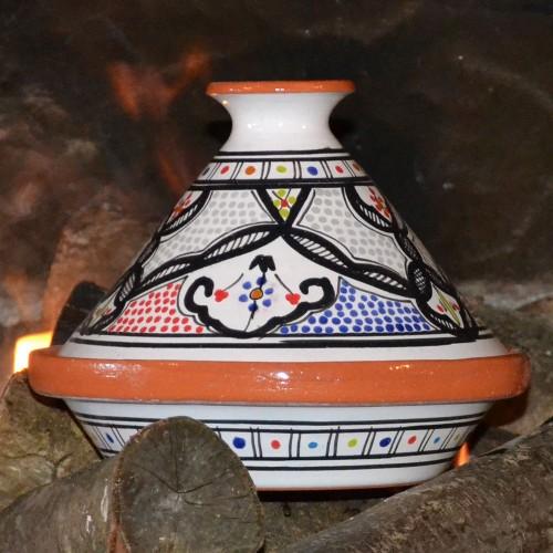 Tajine individuel Marocain color - D 23 cm