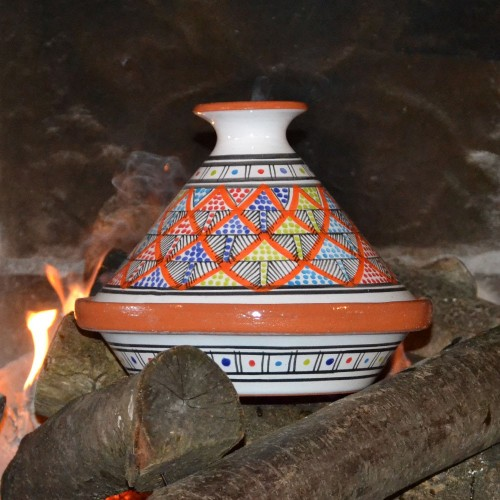 Tajine individuel Bakir Royal Orange - D 23 cm