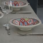 Service à couscous assiettes Tebsis Marocain Rouge - 6 pers