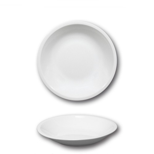 Assiette creuse porcelaine blanche - D 20,5 cm - Roma