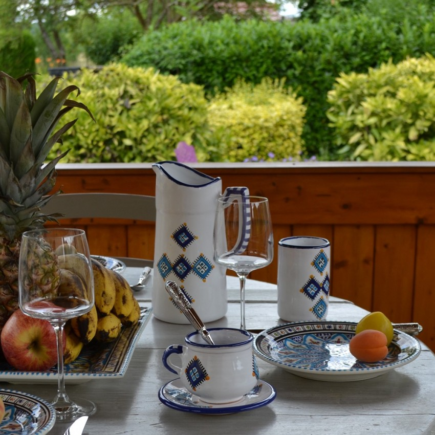 Service boisson sahel bleu - Service de table bleu ...