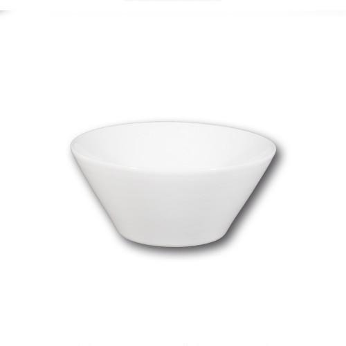 Saladier conique porcelaine blanche - D 24 cm - Napoli