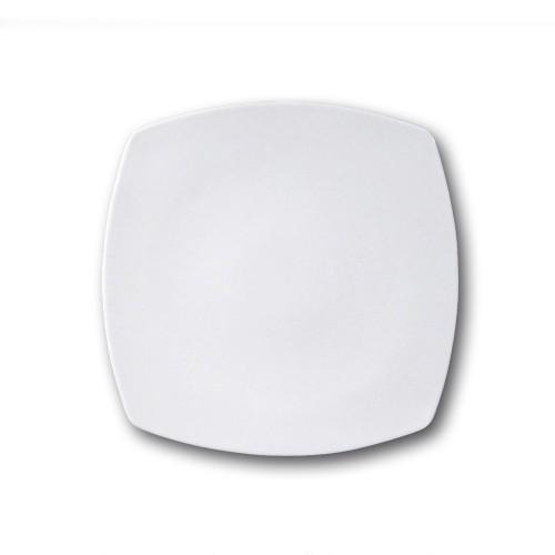 Assiette carrée porcelaine blanche - L 26 cm - Tokio