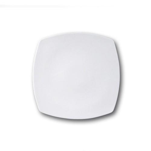 Assiette carrée porcelaine blanche - L 24 cm - Tokio