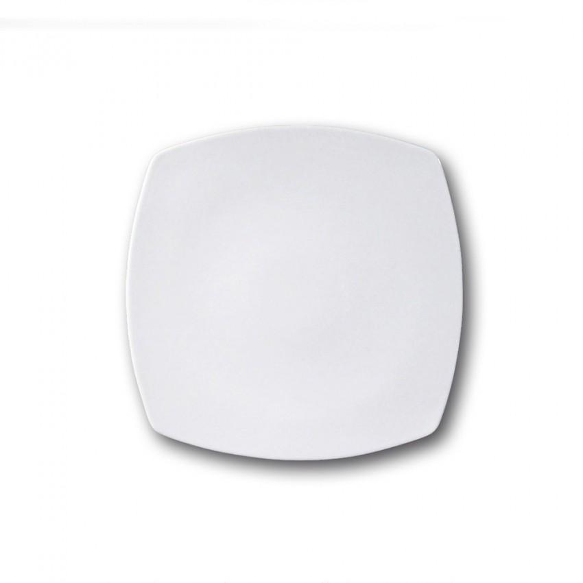 assiette carr e porcelaine blanche l 26 cm tokio. Black Bedroom Furniture Sets. Home Design Ideas