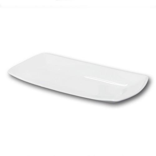 Plat rectangulaire porcelaine blanche - L 36 cm - Tokio