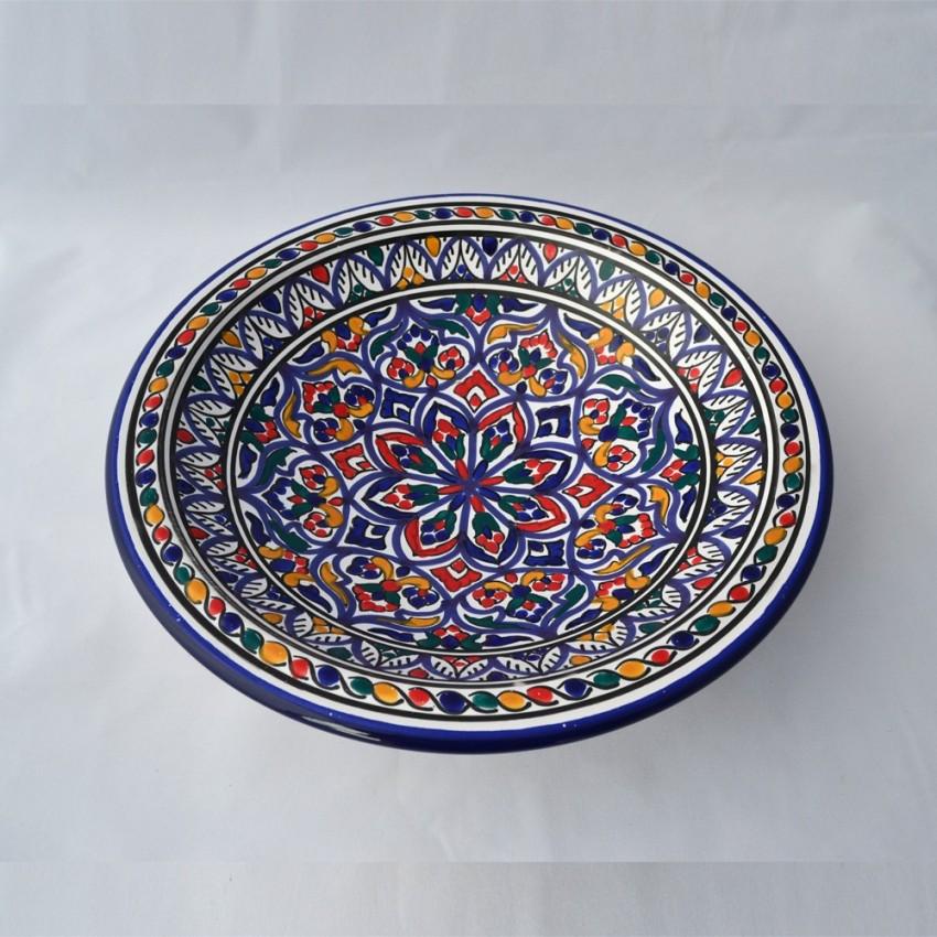 Plat rond Marrakech - Pièce unique - Diam 31 cm