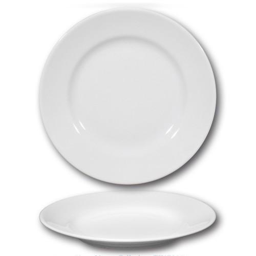 Assiettes plates porcelaine blanche - D 26 cm - Tivoli