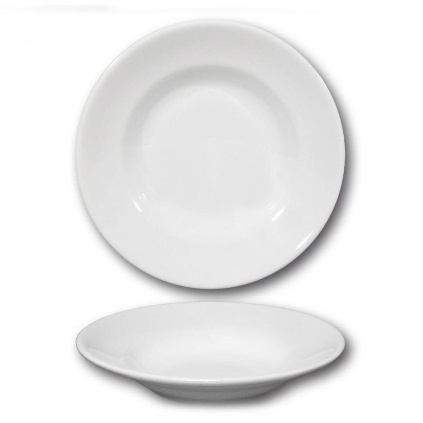 Lot de 6 assiettes creuses porcelaine - D 23,5 cm - Tivoli