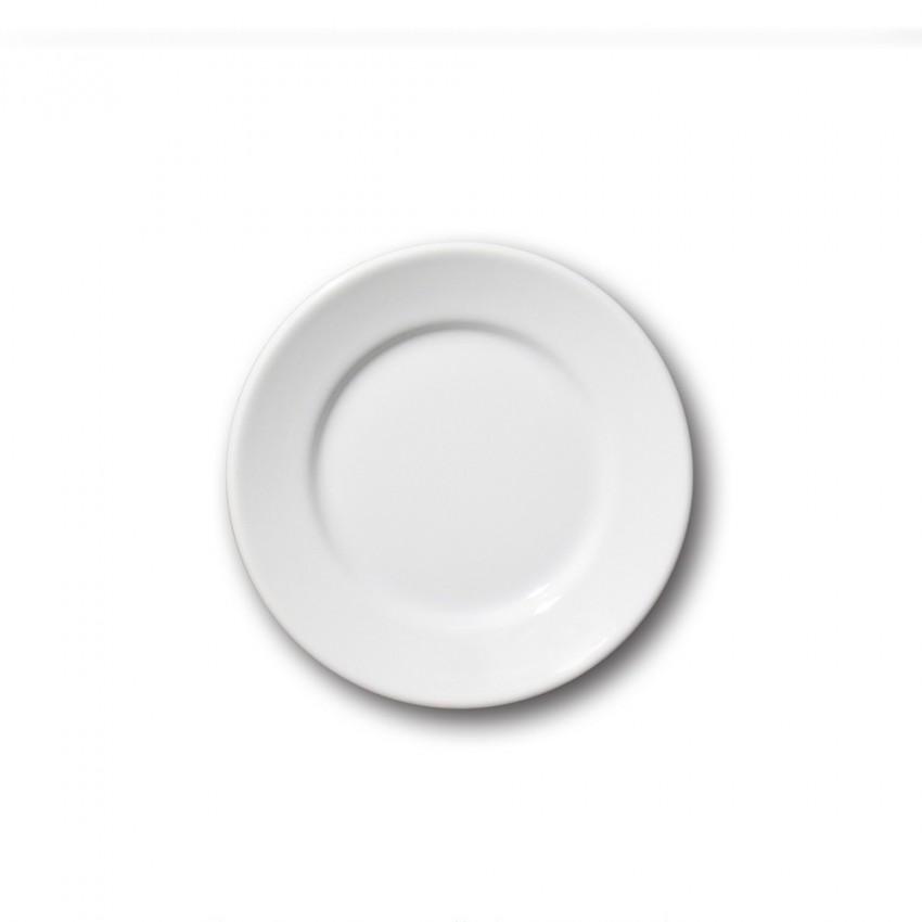 Lot de 6 petites assiettes porcelaine blanche - D 17 cm - Tivoli