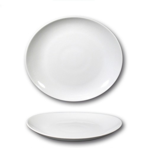 Lot de 6 assiettes à steak porcelaine - D 27,5 cm - Tivoli