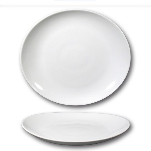 Lot de 6 assiettes à steak porcelaine - D 30,5 cm - Tivoli