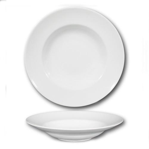 Lot 6 assiettes à pâtes porcelaine blanche - D 30 cm - Napoli