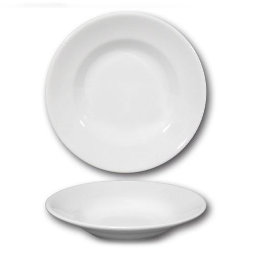Assiette creuse porcelaine blanche - D 23,5 cm - Tivoli