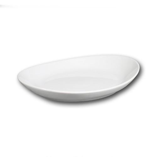 Assiette gondole porcelaine blanche - L 26 cm - Tivoli