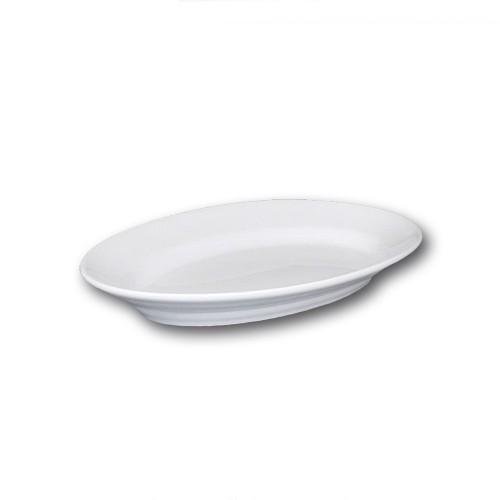 Plat ovale porcelaine blanche - L 31 cm - Tivoli
