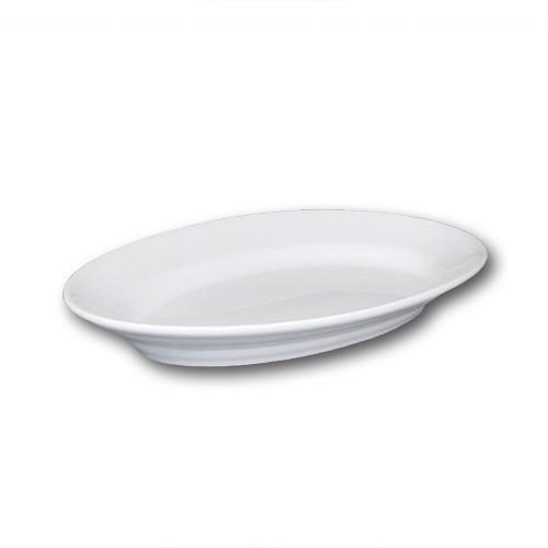 Plat ovale porcelaine blanche - L 35 cm - Tivoli