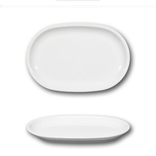 Plat ovale porcelaine blanche - L 25 cm - Roma