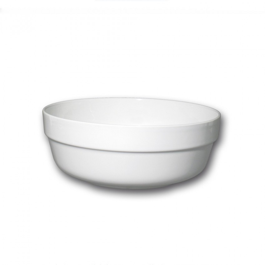Saladier porcelaine blanche - L 24 cm - Roma