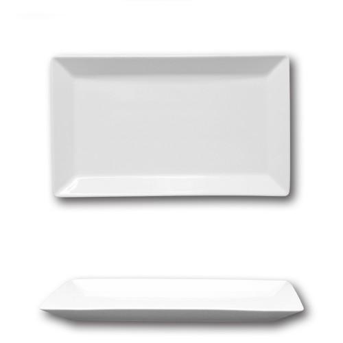 Assiette rectangulaire porcelaine blanche - L 29 cm - Kimi