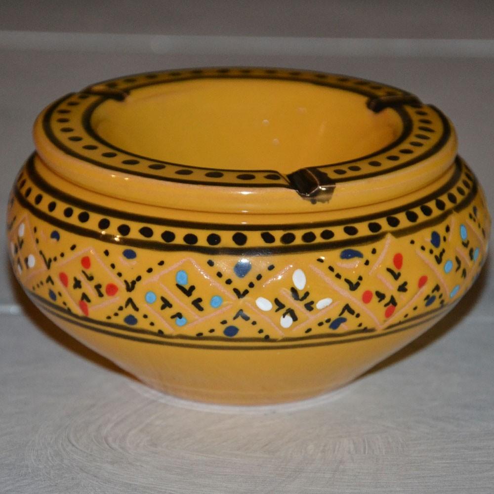 cendrier anti fum u00e9e marrakech jaune et noir