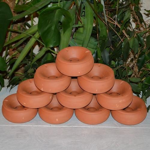 Lot de 10 Cendriers en terre cuite - Moyen modèle