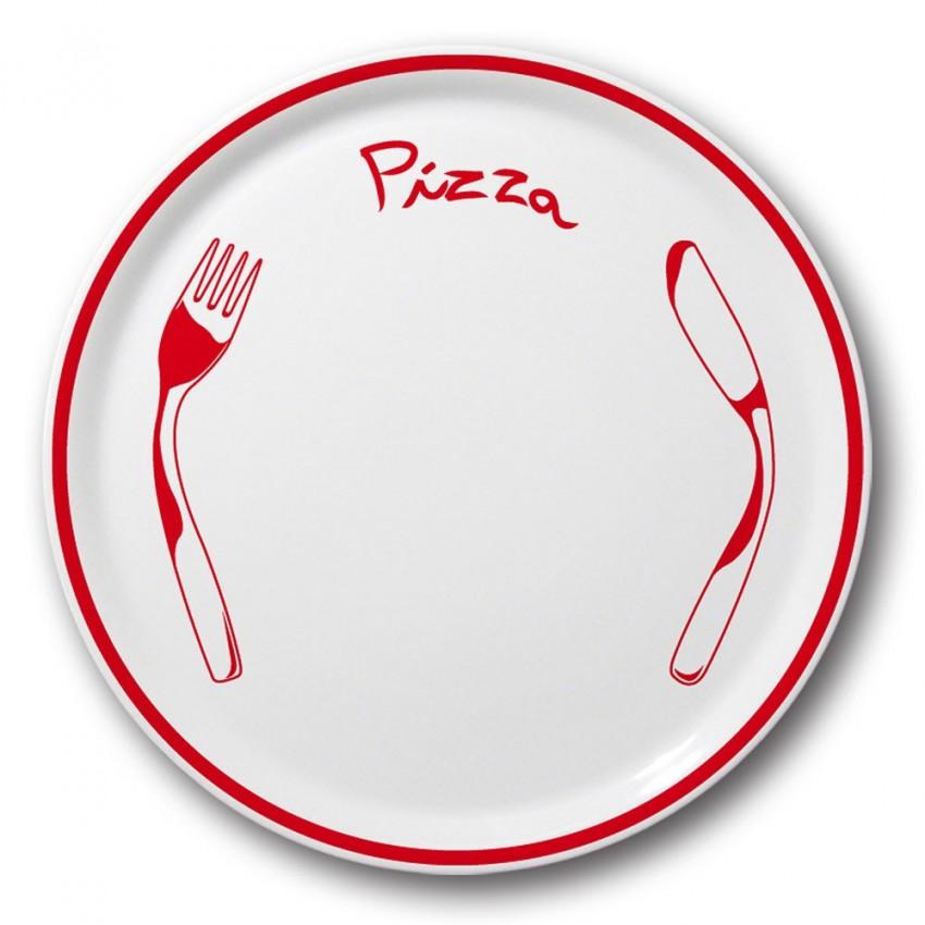 assiette pizza rouge d 31 cm napoli. Black Bedroom Furniture Sets. Home Design Ideas