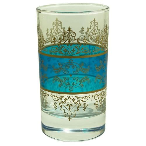 Lot de 6 verres à thé Shéhérazade Bleu