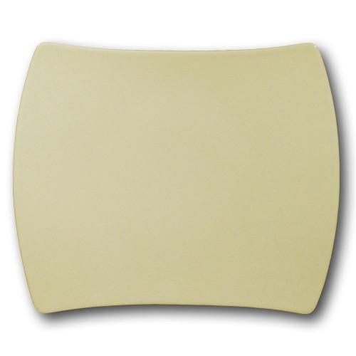 Plat rectangulaire porcelaine de couleur crème - L 31 cm - Tokio