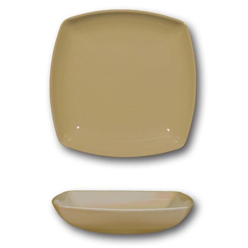 Lot de 6 assiettes creuses porcelaine italienne Marron - L 21 cm - Tokio