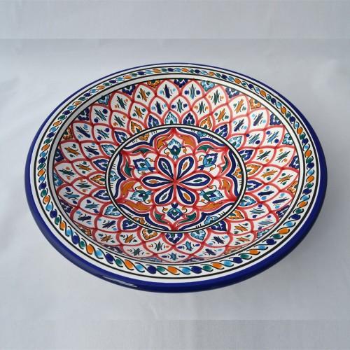 Plat rond Sousse - Pièce unique - D 31 cm