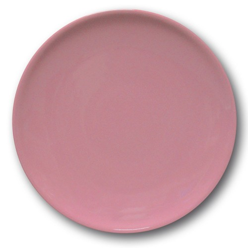 Lot de 6 assiettes plates porcelaine Rose - D 26 cm - Siviglia