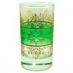 Lot de 6 verres à thé Shéhérazade Bleu, Vert et Jaune