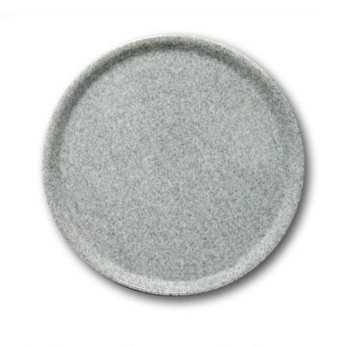 Lot de 6 assiette à pizza - D 31 cm - Moucheté gris