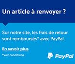 Frais de retour remboursés avec Paypal
