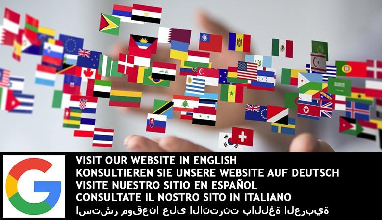 Consultez notre site en anglais, en allemand, en espagnol, en italien et en arabe !