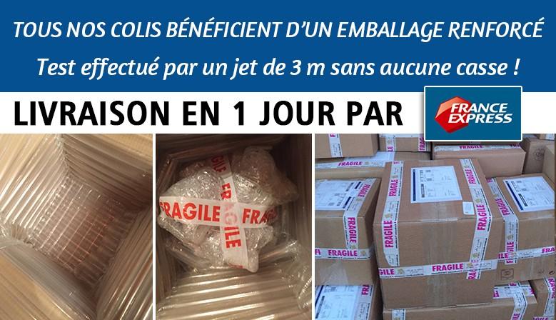 Emballage renforcé et livraison en 1 jour pour toute la vaisselle orientale, service à couscous, tajines, plats ...