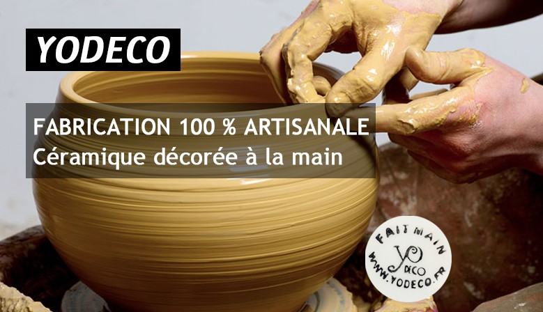 YODECO fabrication 100% artisanale de vaisselle orientale, tajine, service a couscous, service de table, cendrier...